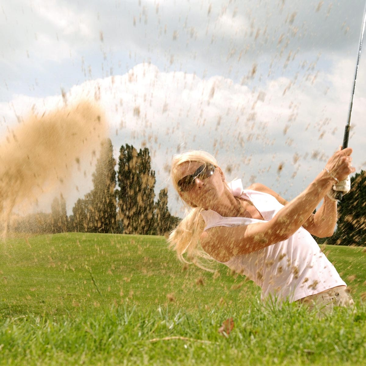 salir al campo de golf