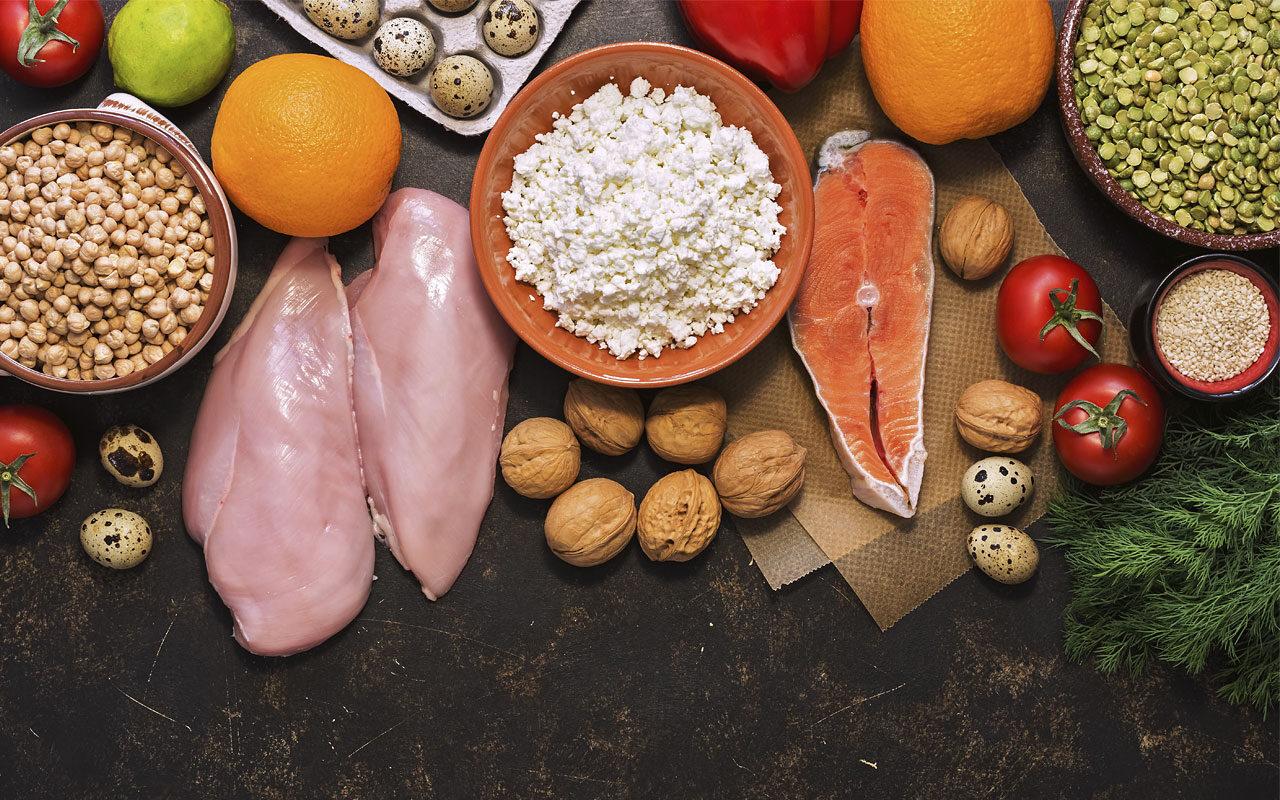 Alimentos ricos en proteínas para adelgazar y bajo en grasa